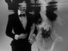 vizi esküvő fekete fehér